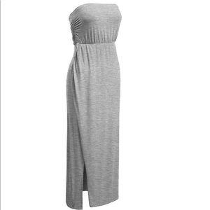 Mauve strapless dress